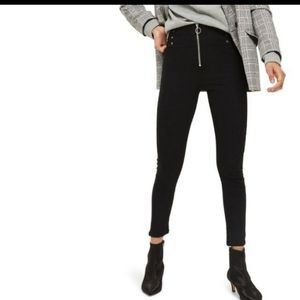 Topshop Moto Jamie Lace Up High Rise Skinny Jean